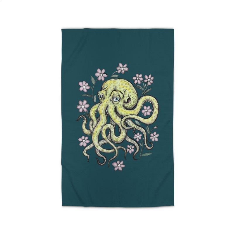 OctoFlowerPuss Home Rug by SkullyFlower's Sweetly Creepy Tees