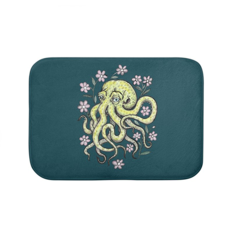 OctoFlowerPuss Home Bath Mat by SkullyFlower's Sweetly Creepy Tees