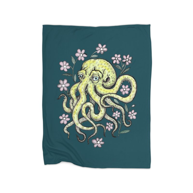 OctoFlowerPuss Home Blanket by SkullyFlower's Sweetly Creepy Tees