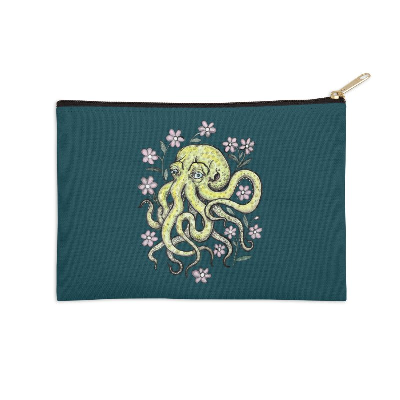OctoFlowerPuss Accessories Zip Pouch by SkullyFlower's Sweetly Creepy Tees