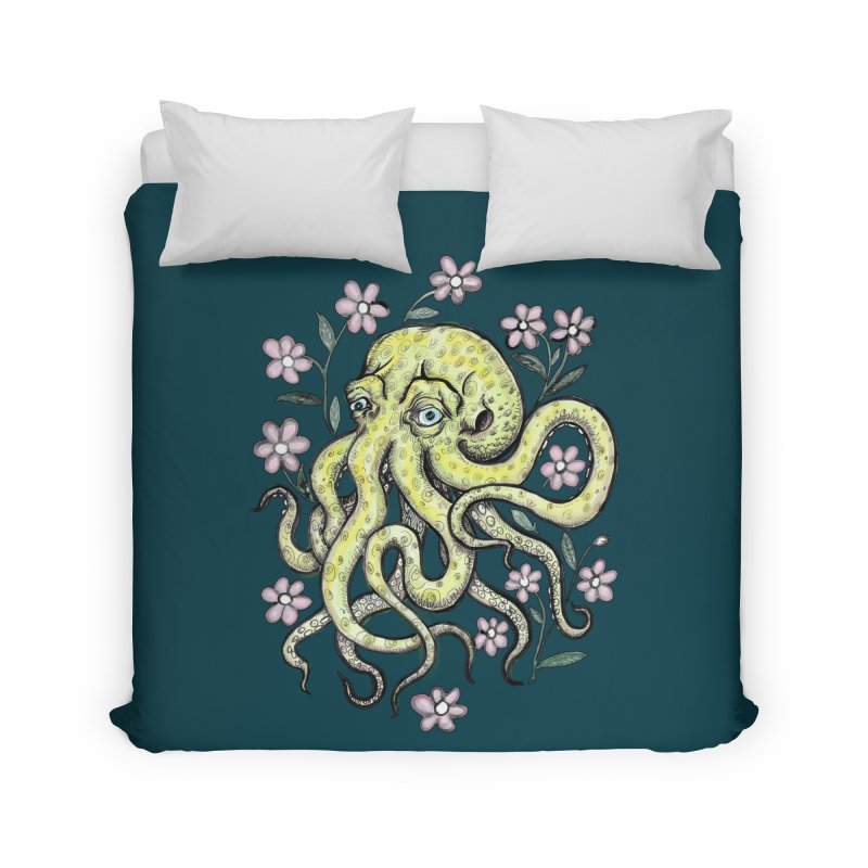 OctoFlowerPuss Home Duvet by SkullyFlower's Sweetly Creepy Tees