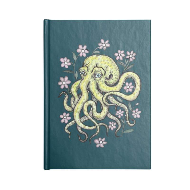 OctoFlowerPuss in Blank Journal Notebook by SkullyFlower's Sweetly Creepy Tees
