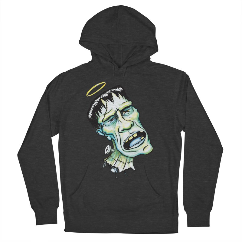 Saint Frank Women's French Terry Pullover Hoody by SkullyFlower's Sweetly Creepy Tees