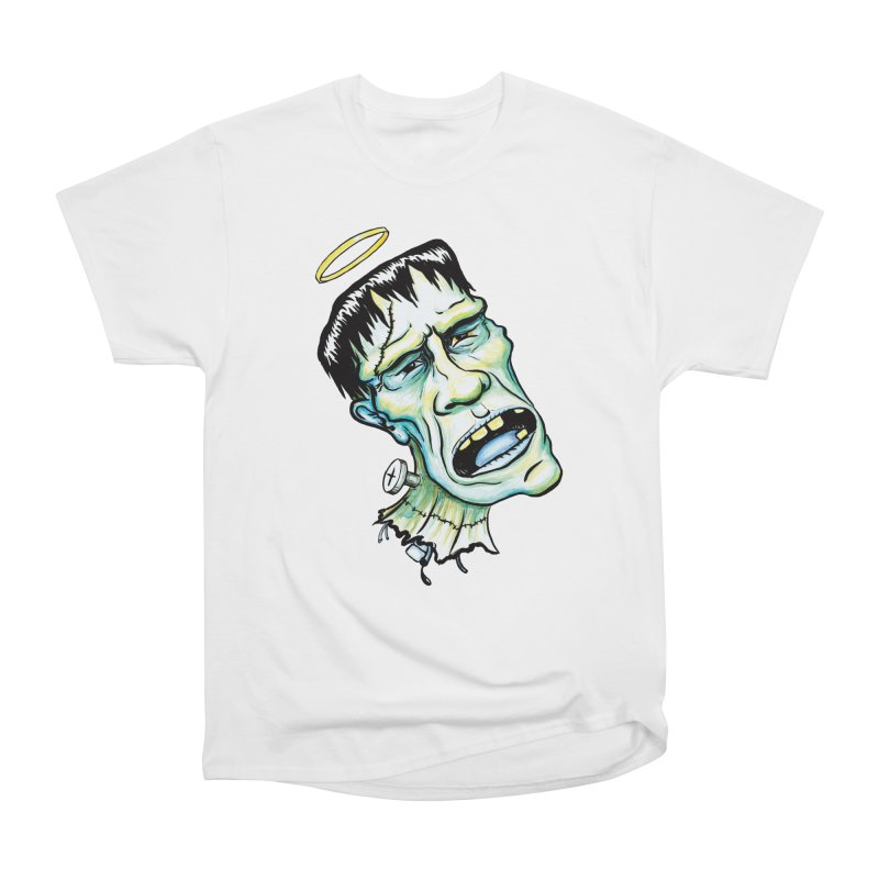 Saint Frank Men's Heavyweight T-Shirt by SkullyFlower's Sweetly Creepy Tees