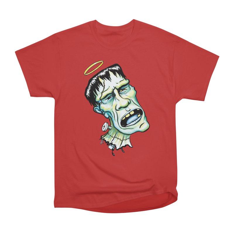Saint Frank Men's Heavyweight T-Shirt by SkullyFlower's Sweetly Creepy Tees