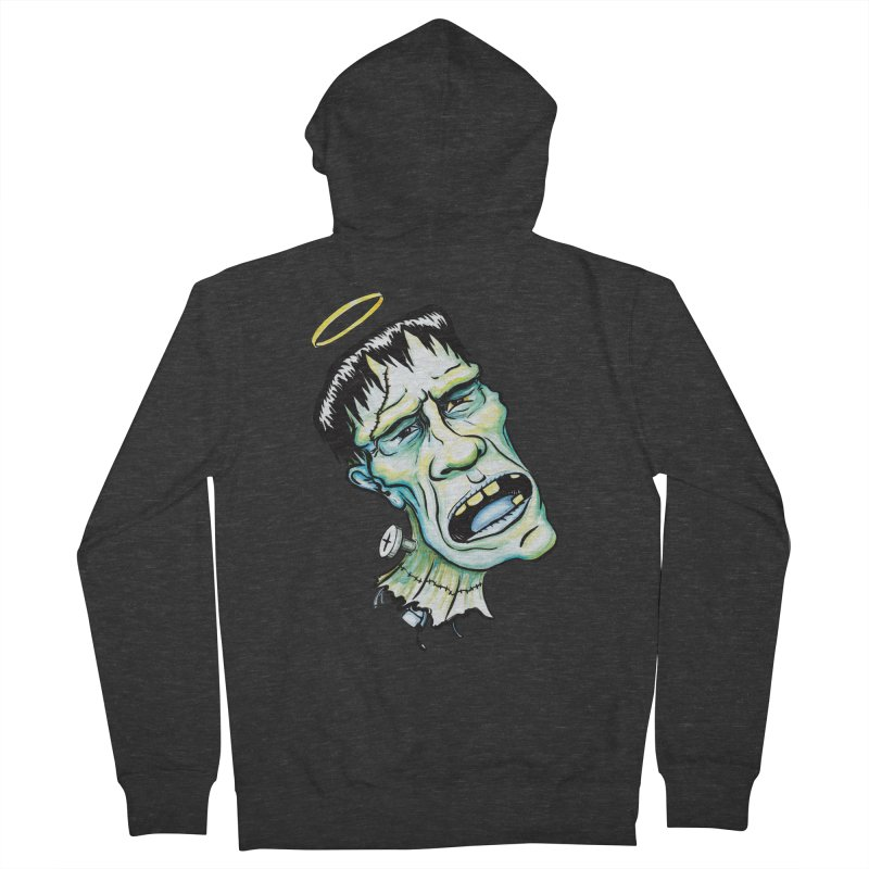 Saint Frank Women's French Terry Zip-Up Hoody by SkullyFlower's Sweetly Creepy Tees
