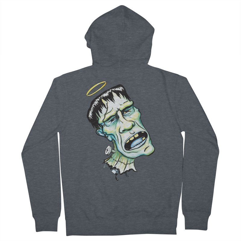 Saint Frank Men's Zip-Up Hoody by SkullyFlower's Sweetly Creepy Tees