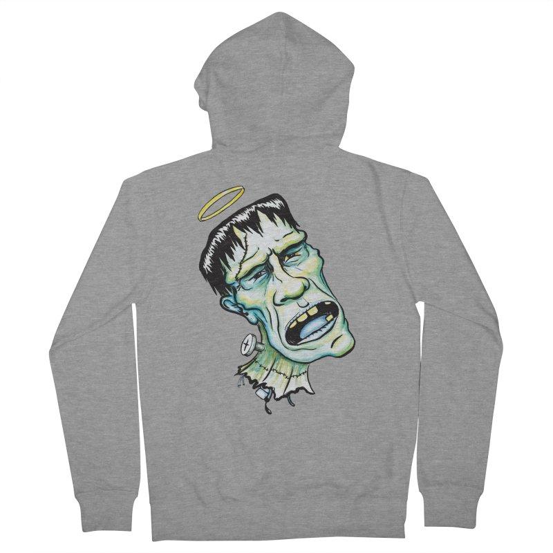 Saint Frank Men's Zip-Up Hoody by SkullyFlower's Sweetly Creepy Tees