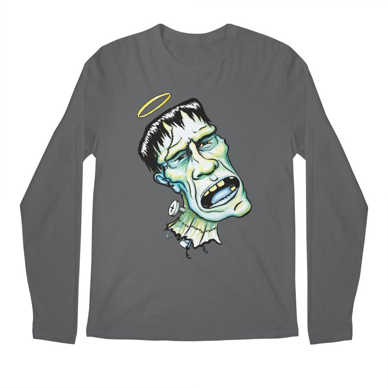 Saint Frank Men's Regular Longsleeve T-Shirt by SkullyFlower's Sweetly Creepy Tees