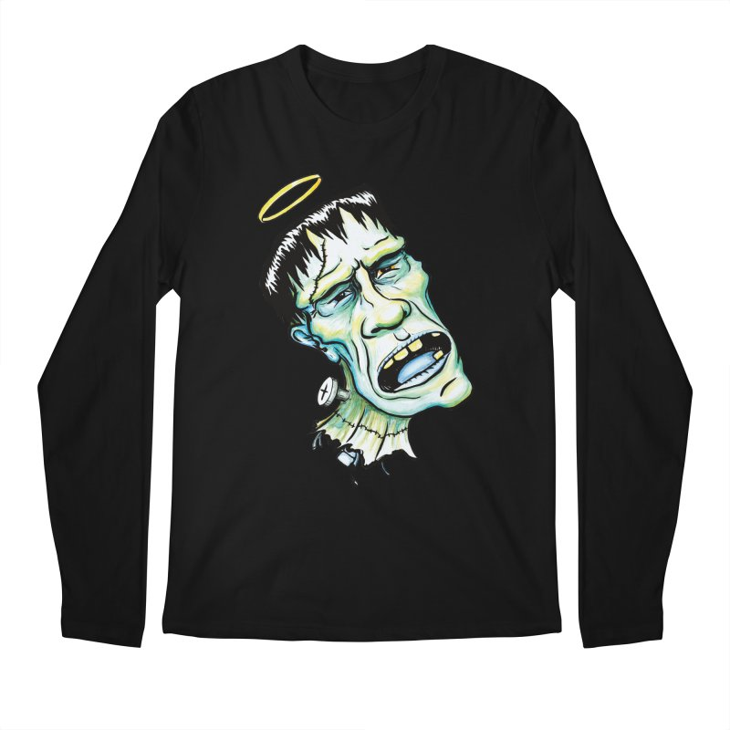 Saint Frank Men's Longsleeve T-Shirt by SkullyFlower's Sweetly Creepy Tees