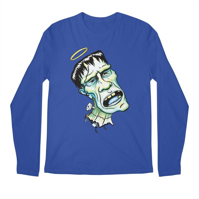 Saint Frank Men's Regular Longsleeve T-Shirt by SkullyFlower's Sweetly Creepy Tees
