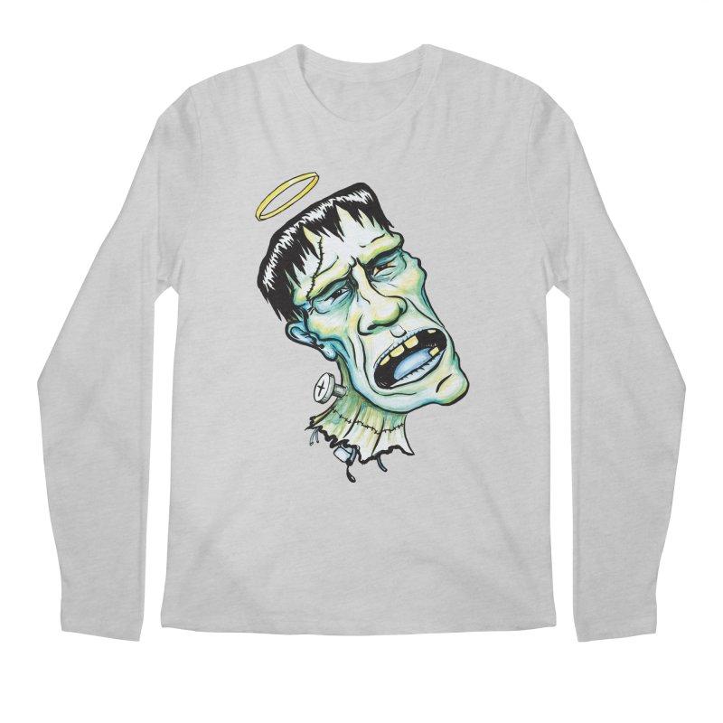 Saint Frank Men's Longsleeve T-Shirt by SkullyFlower's Sweetly Creepy Tees