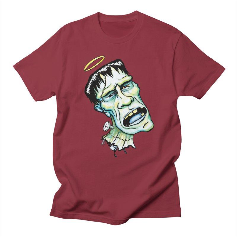 Saint Frank Men's Regular T-Shirt by SkullyFlower's Sweetly Creepy Tees