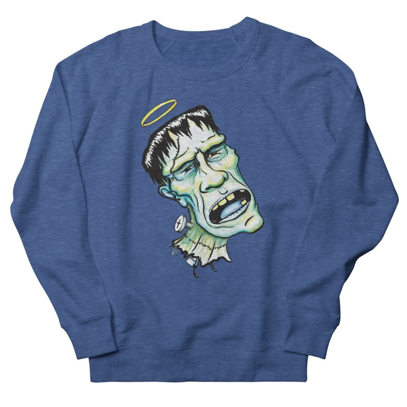 Saint Frank Women's French Terry Sweatshirt by SkullyFlower's Sweetly Creepy Tees