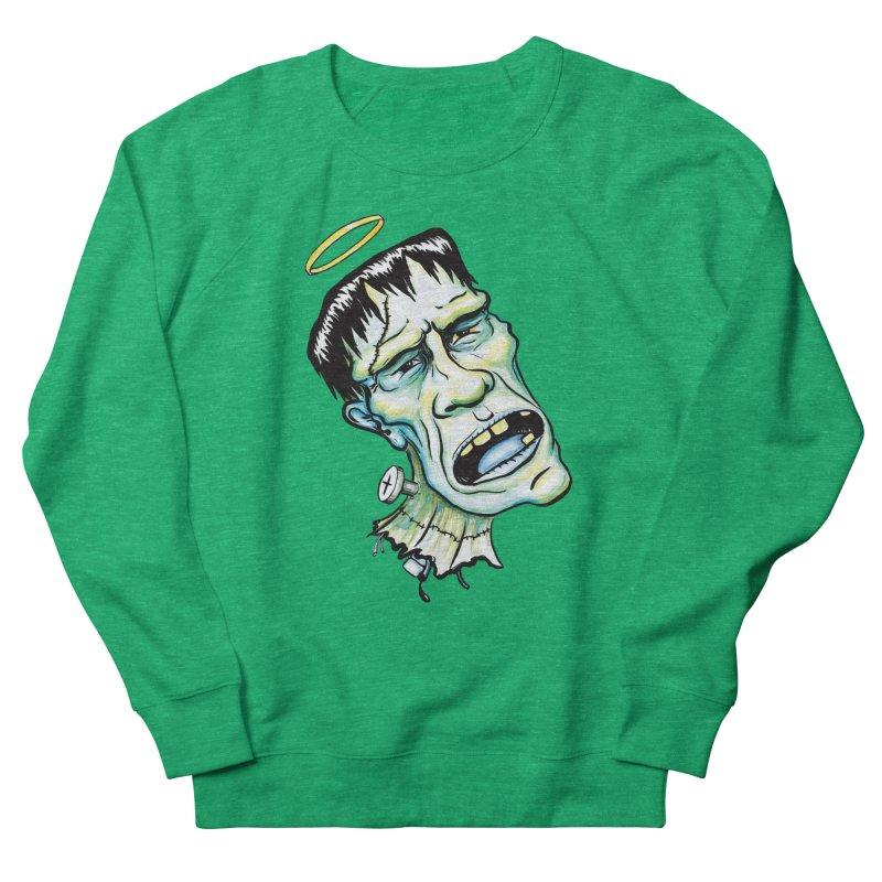 Saint Frank Men's French Terry Sweatshirt by SkullyFlower's Sweetly Creepy Tees