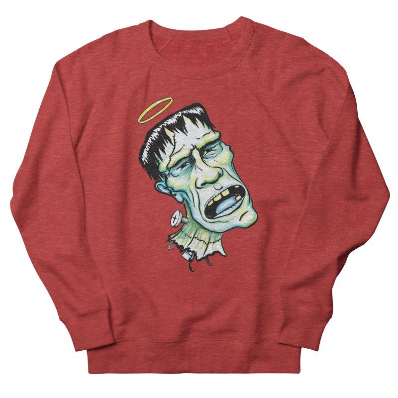 Saint Frank Men's French Terry Sweatshirt by SkullyFlower's Sweetly Creepy Tees