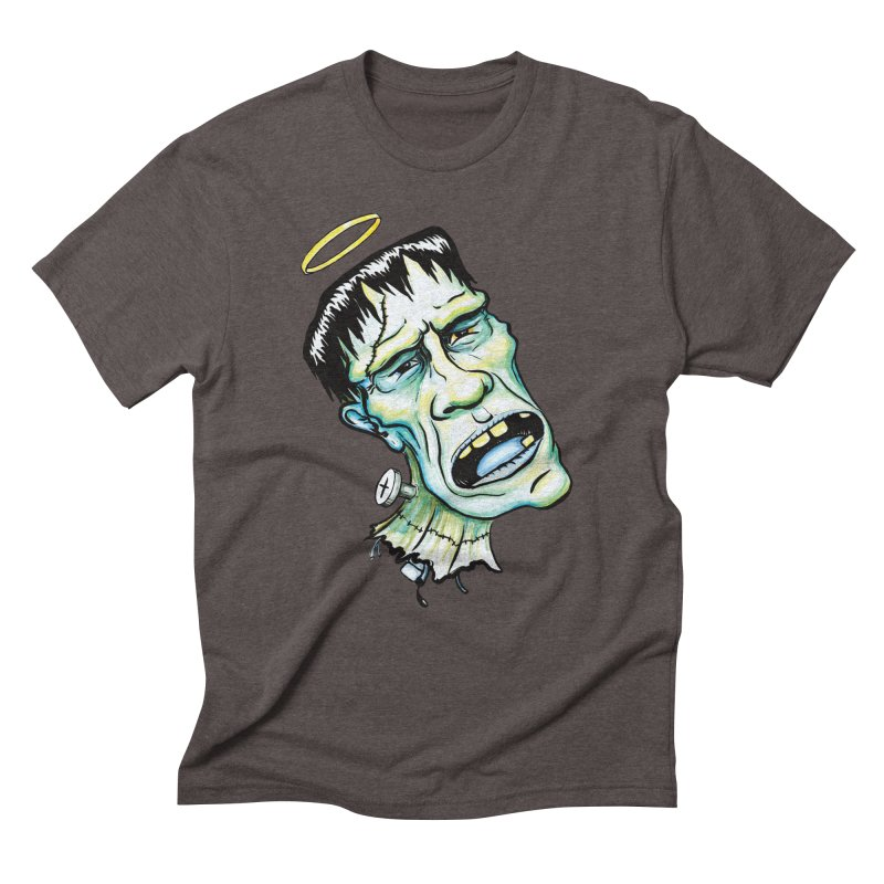 Saint Frank Men's Triblend T-Shirt by SkullyFlower's Sweetly Creepy Tees