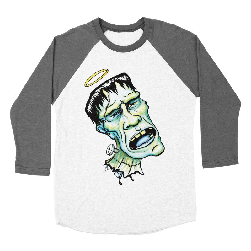 Saint Frank Women's Baseball Triblend Longsleeve T-Shirt by SkullyFlower's Sweetly Creepy Tees