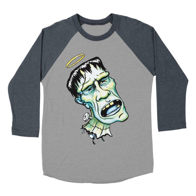 Saint Frank Men's Baseball Triblend T-Shirt by SkullyFlower's Sweetly Creepy Tees