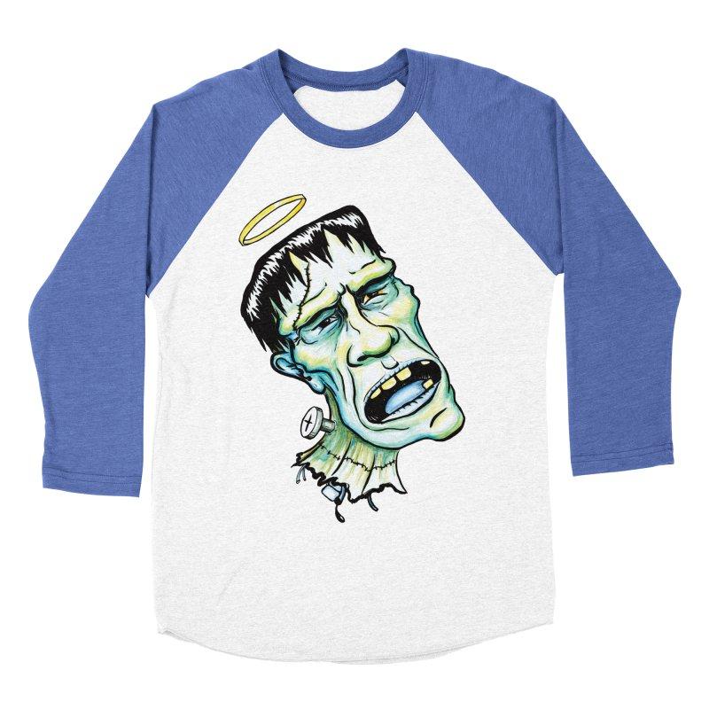Saint Frank Men's Baseball Triblend Longsleeve T-Shirt by SkullyFlower's Sweetly Creepy Tees