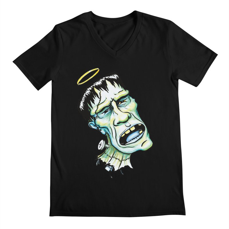 Saint Frank Men's V-Neck by SkullyFlower's Sweetly Creepy Tees