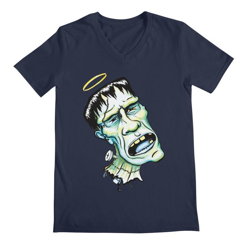 Saint Frank Men's Regular V-Neck by SkullyFlower's Sweetly Creepy Tees