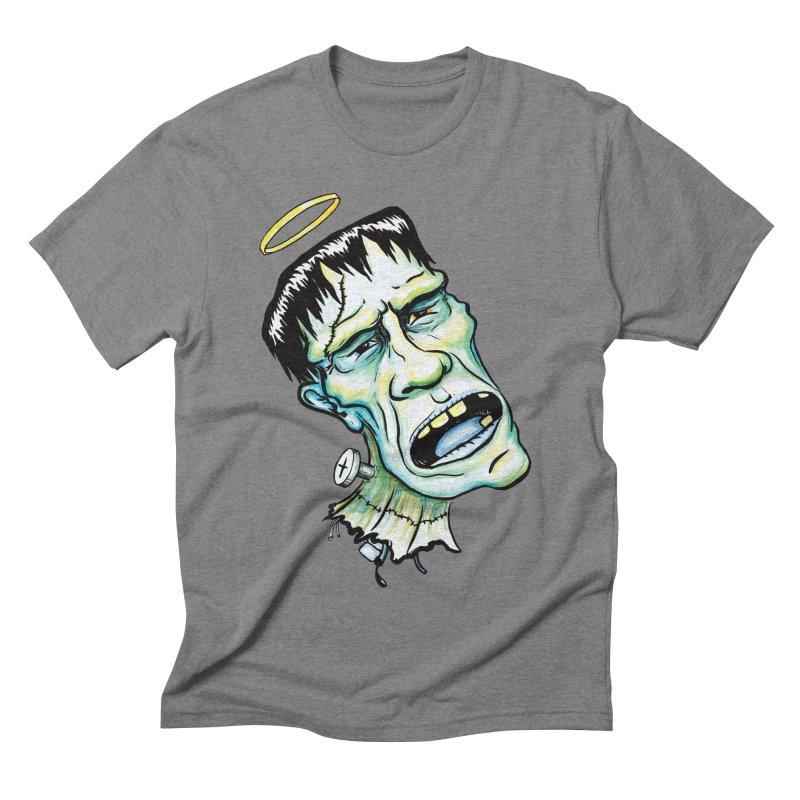 Saint Frank Men's Triblend T-shirt by SkullyFlower's Sweetly Creepy Tees