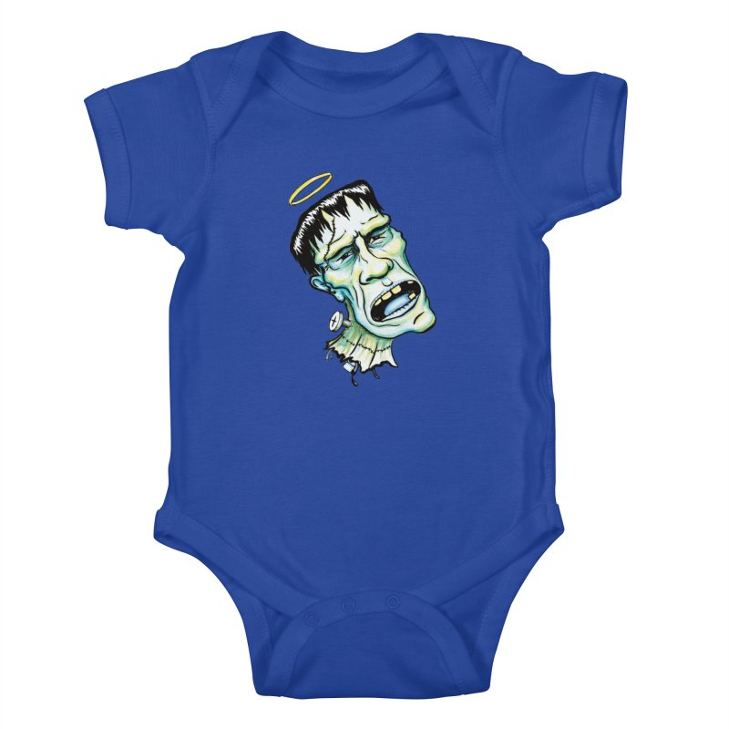 Saint Frank Kids Baby Bodysuit by SkullyFlower's Sweetly Creepy Tees