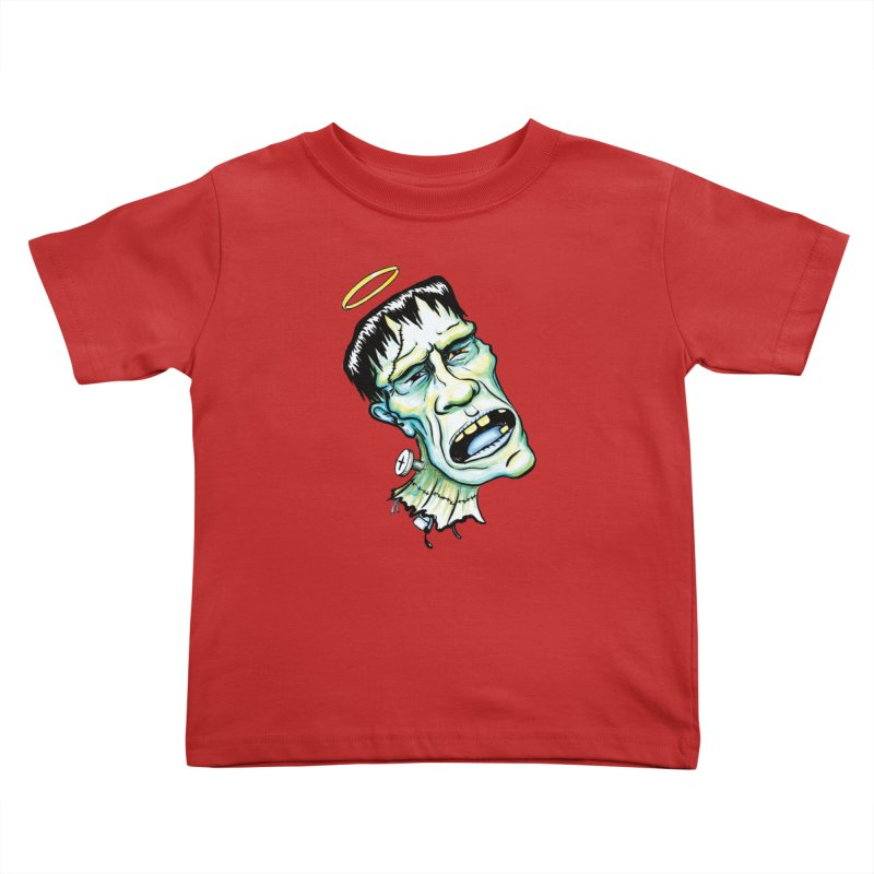 Saint Frank Kids Toddler T-Shirt by SkullyFlower's Sweetly Creepy Tees