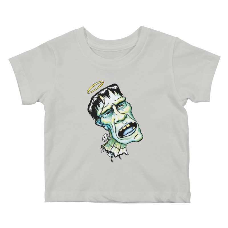 Saint Frank Kids Baby T-Shirt by SkullyFlower's Sweetly Creepy Tees
