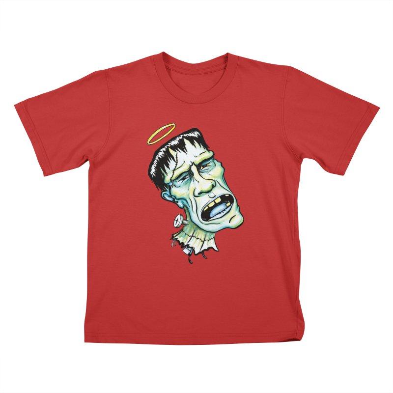 Saint Frank Kids T-Shirt by SkullyFlower's Sweetly Creepy Tees