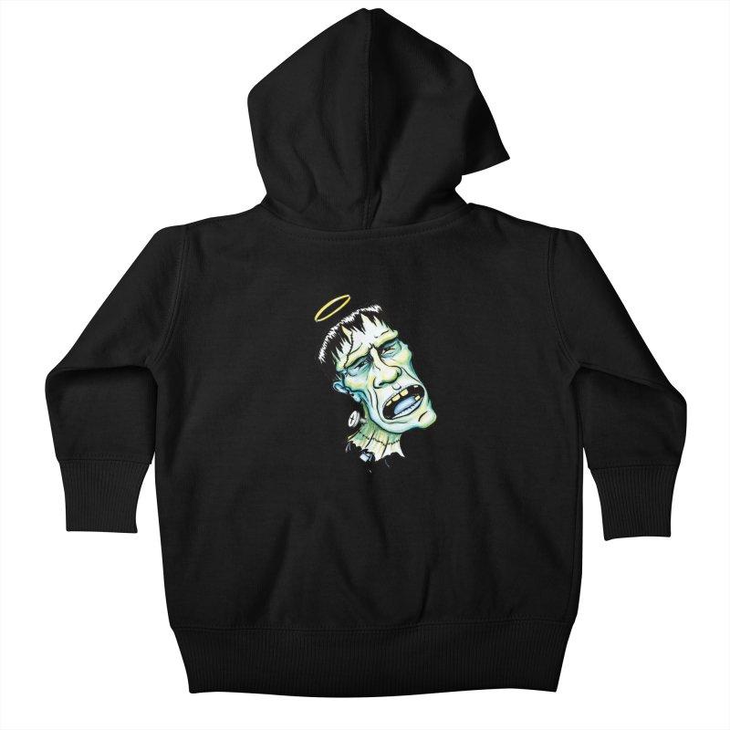 Saint Frank Kids Baby Zip-Up Hoody by SkullyFlower's Sweetly Creepy Tees