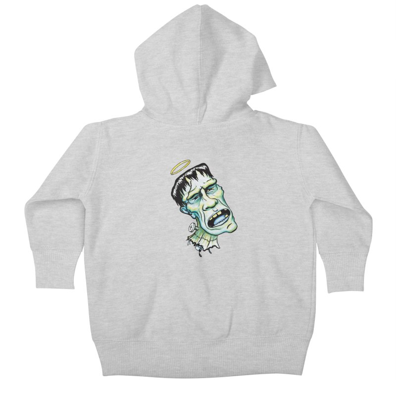 Saint Frank Kids Baby Zip-Up Hoody by SkullyFlower's Sweetly Creepy Tees