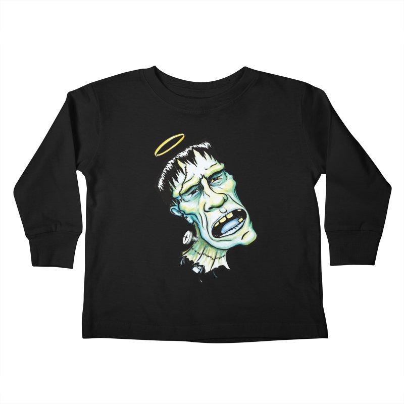 Saint Frank Kids Toddler Longsleeve T-Shirt by SkullyFlower's Sweetly Creepy Tees