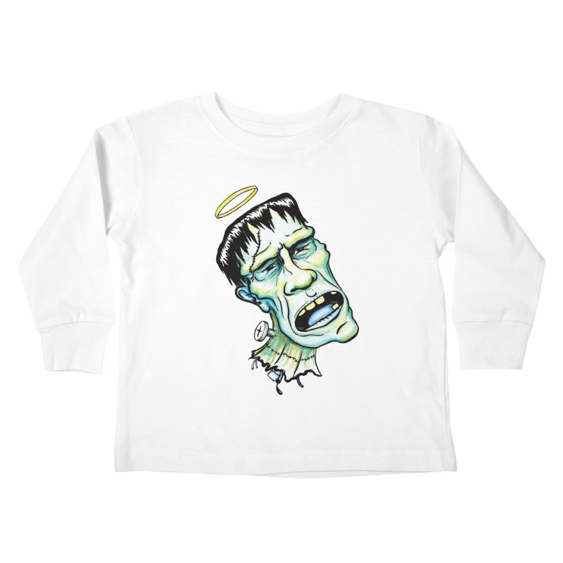 Saint Frank Kids Toddler Longsleeve T-Shirt by SkullyFlower's Sweetly Creepy Tees