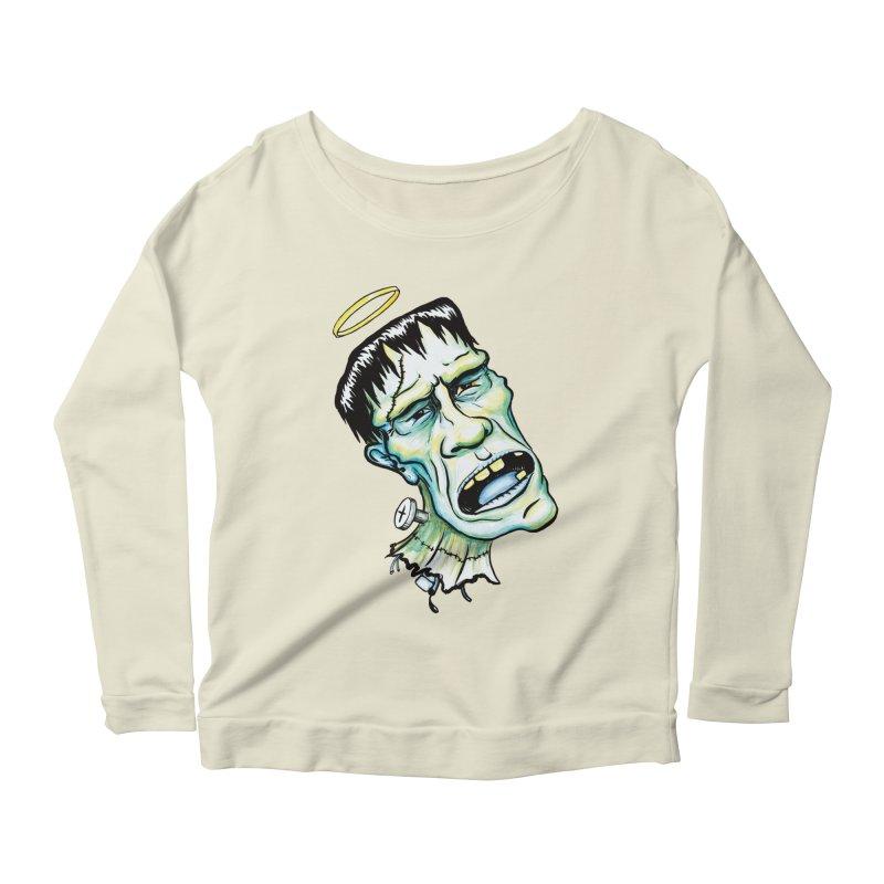 Saint Frank Women's Scoop Neck Longsleeve T-Shirt by SkullyFlower's Sweetly Creepy Tees