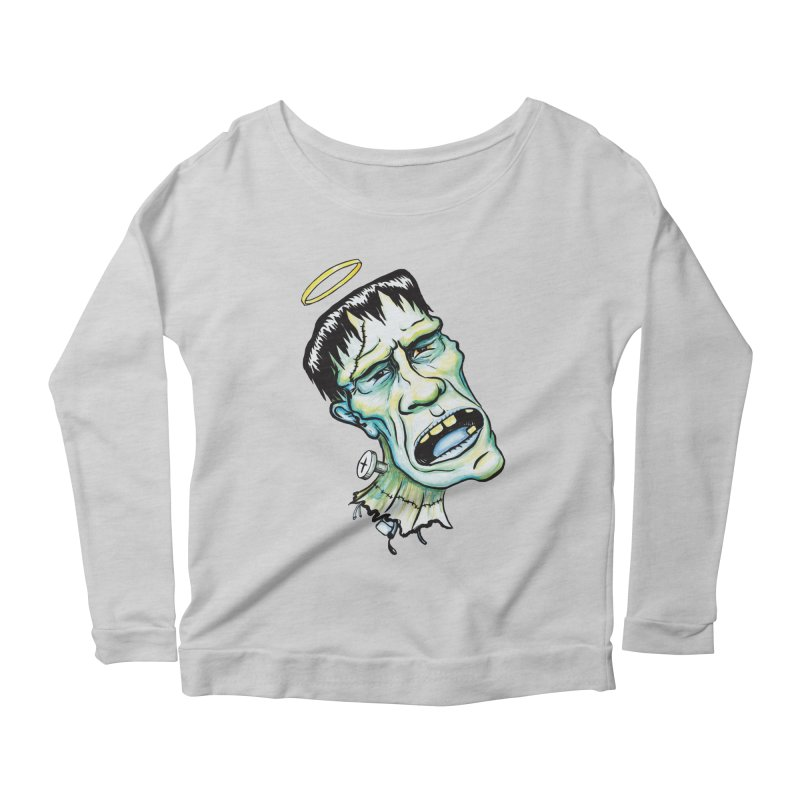 Saint Frank Women's Longsleeve Scoopneck  by SkullyFlower's Sweetly Creepy Tees