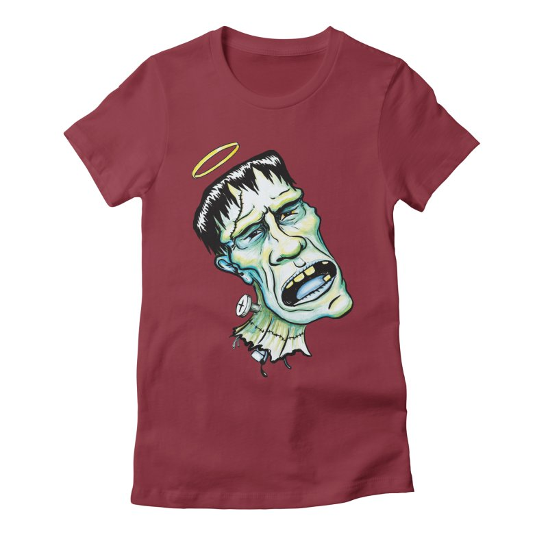Saint Frank Women's Fitted T-Shirt by SkullyFlower's Sweetly Creepy Tees