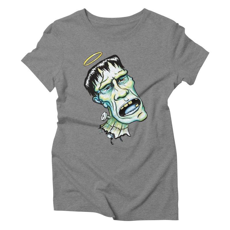 Saint Frank Women's Triblend T-shirt by SkullyFlower's Sweetly Creepy Tees