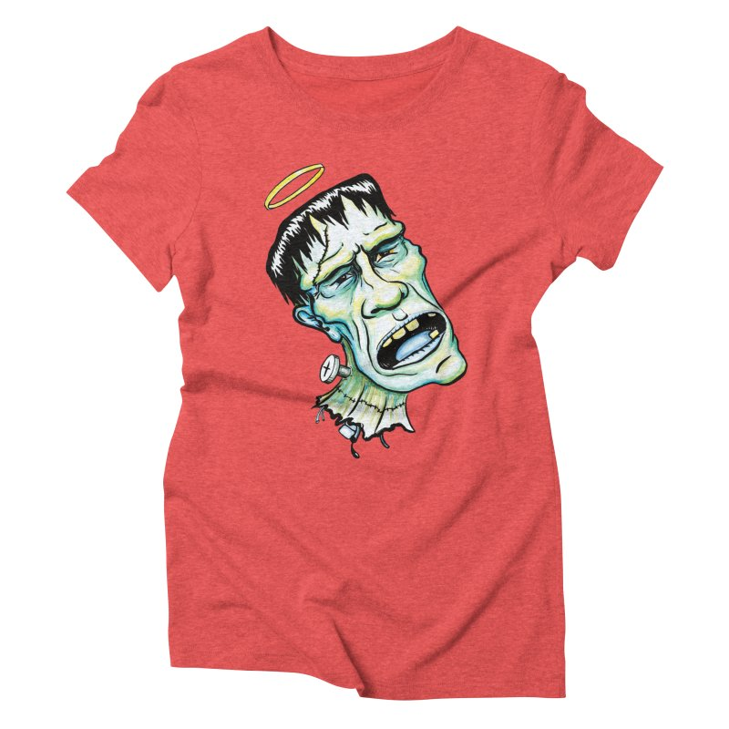 Saint Frank Women's Triblend T-Shirt by SkullyFlower's Sweetly Creepy Tees