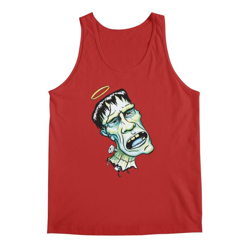 Saint Frank Men's Tank by SkullyFlower's Sweetly Creepy Tees