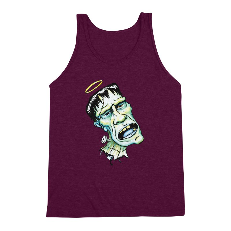 Saint Frank Men's Triblend Tank by SkullyFlower's Sweetly Creepy Tees