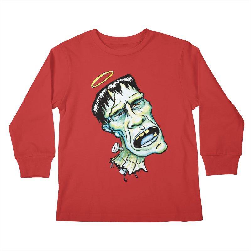 Saint Frank Kids Longsleeve T-Shirt by SkullyFlower's Sweetly Creepy Tees