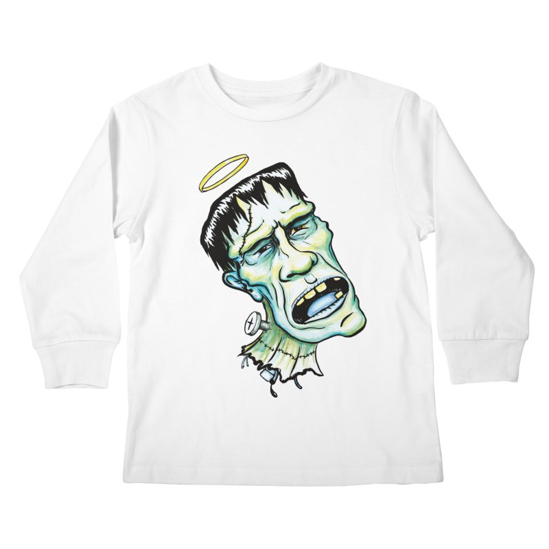 Saint Frank Kids Longsleeve T-Shirt by SkullyFlower's Sweetly Creepy Tees