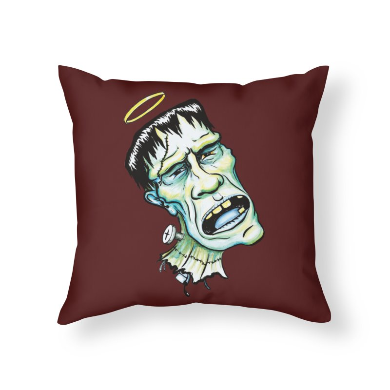 Saint Frank Home Throw Pillow by SkullyFlower's Sweetly Creepy Tees