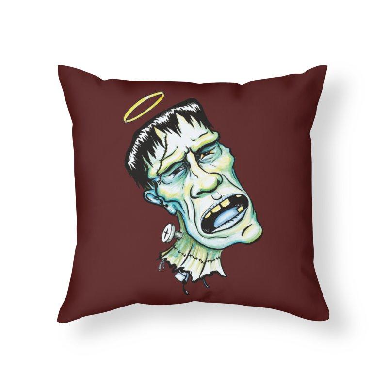 Saint Frank Home Throw Pillow by SkullyFlower's Sweetly Creepy Tees