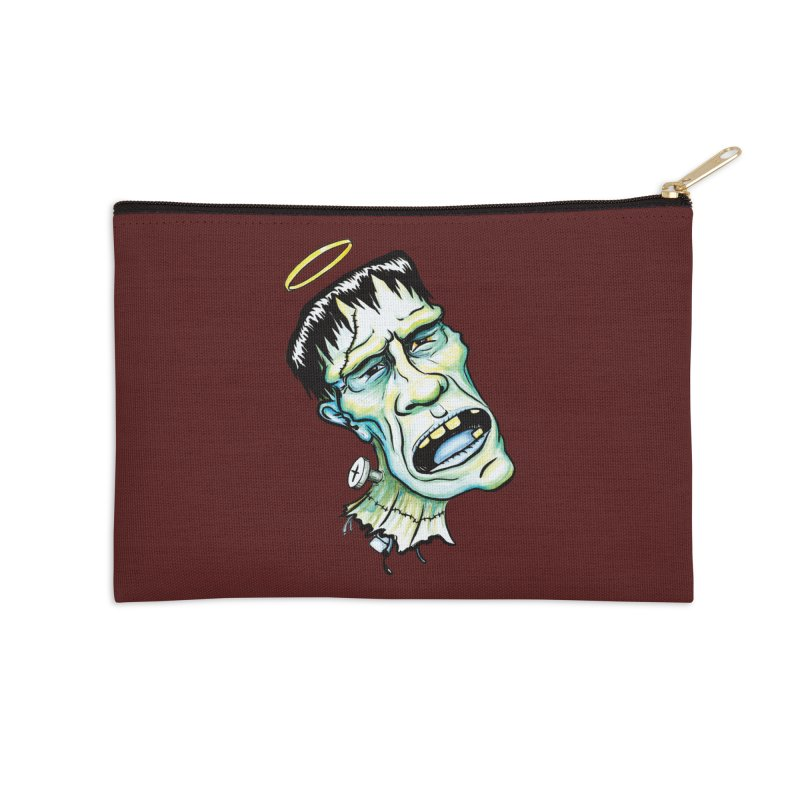 Saint Frank Accessories Zip Pouch by SkullyFlower's Sweetly Creepy Tees