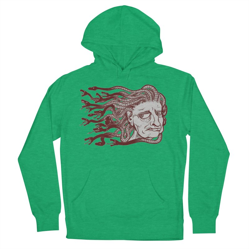 Gorgon Women's French Terry Pullover Hoody by SkullyFlower's Sweetly Creepy Tees