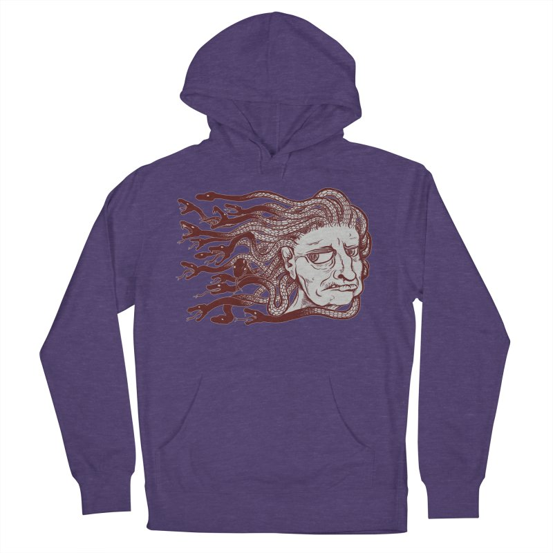 Gorgon Men's French Terry Pullover Hoody by SkullyFlower's Sweetly Creepy Tees