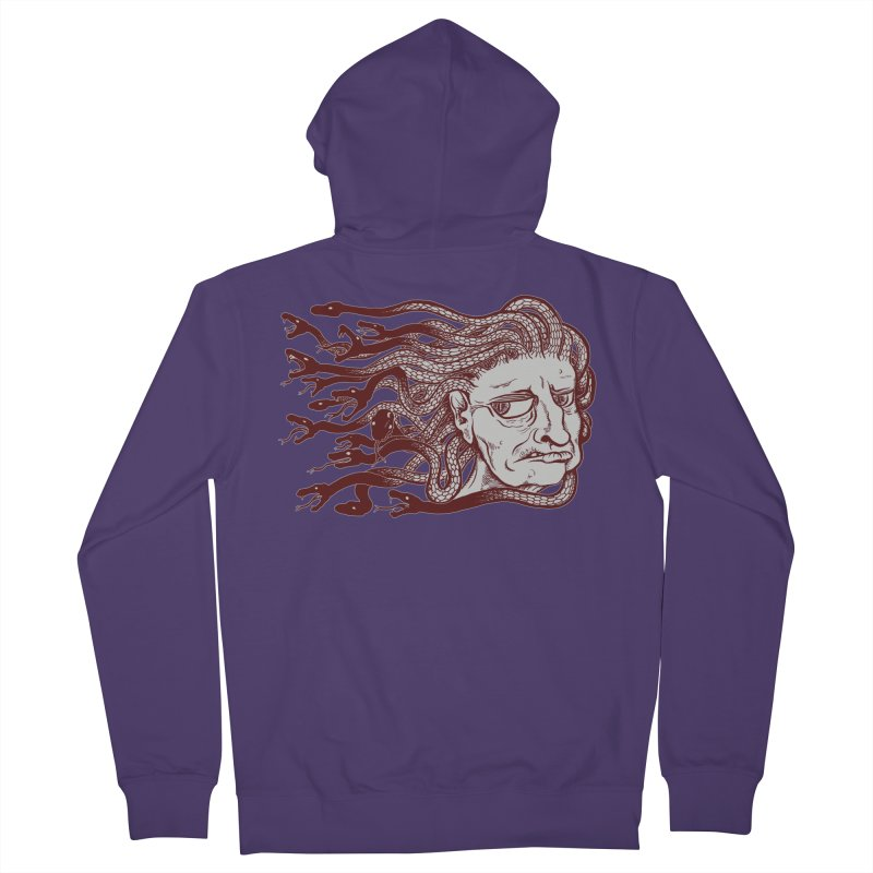 Gorgon Women's French Terry Zip-Up Hoody by SkullyFlower's Sweetly Creepy Tees